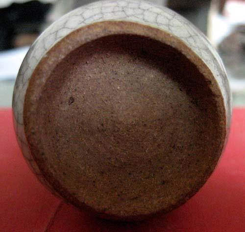 清早期仿哥窑长颈瓶 历代陶器瓷器 古泉社区 -清早期仿哥窑长颈瓶