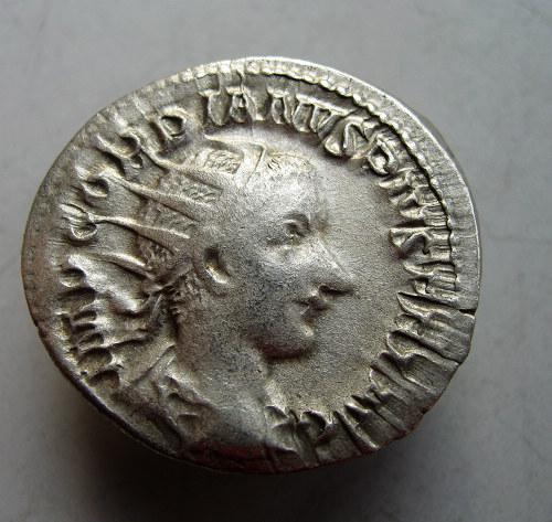 古罗马,戈尔迪安三世,安东尼安银币 古钱 钱币 古币 纸币 银币 铜元