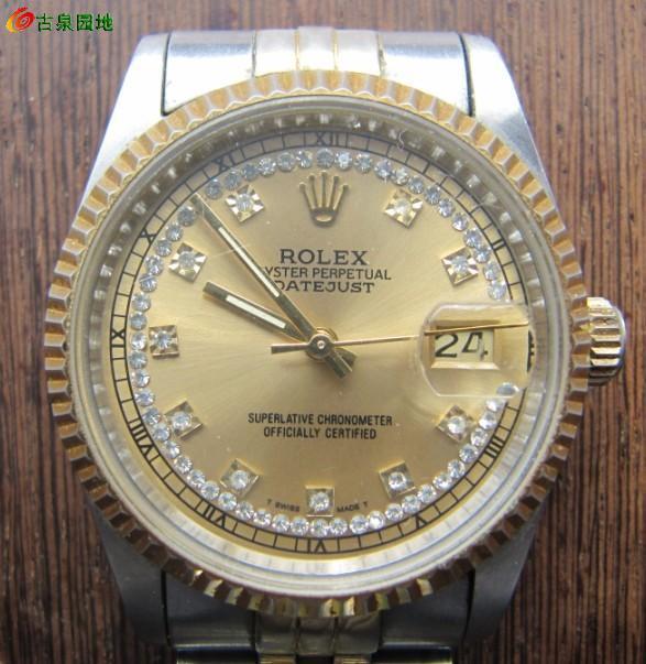 勞力士手表材質:鋼間金機芯:全制動備注:瑞士機芯香港組裝,對時高清圖片