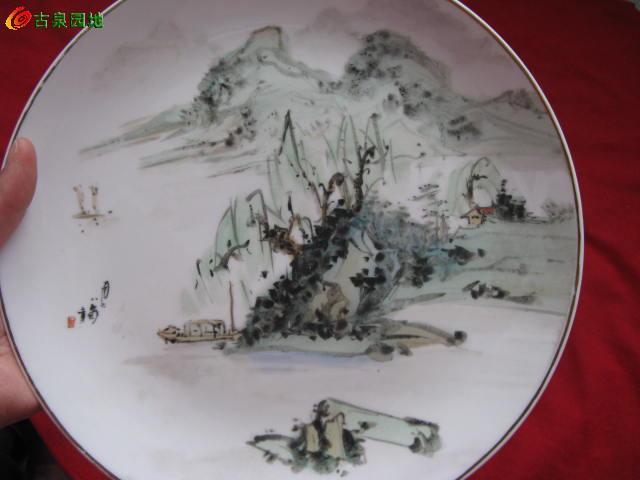 画工漂亮的1978年手绘盘子