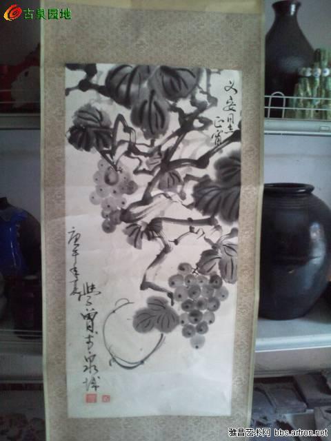 喜画花鸟 山水,尤擅画葡萄.作品在省及全国书画大赛中多