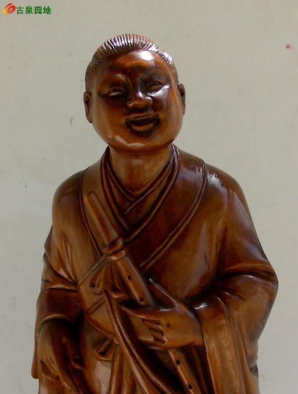 木雕-- 雅器早期黄杨木雕【韩湘子】摆件(售出)