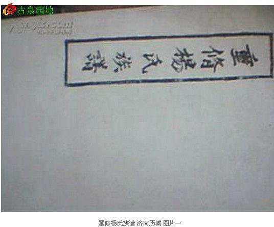济南 杨氏族谱 全一册图片