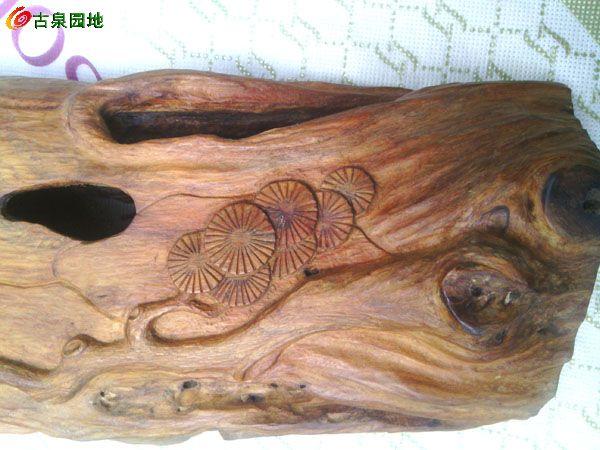 两件柘木随形雕,欣赏,实用皆宜