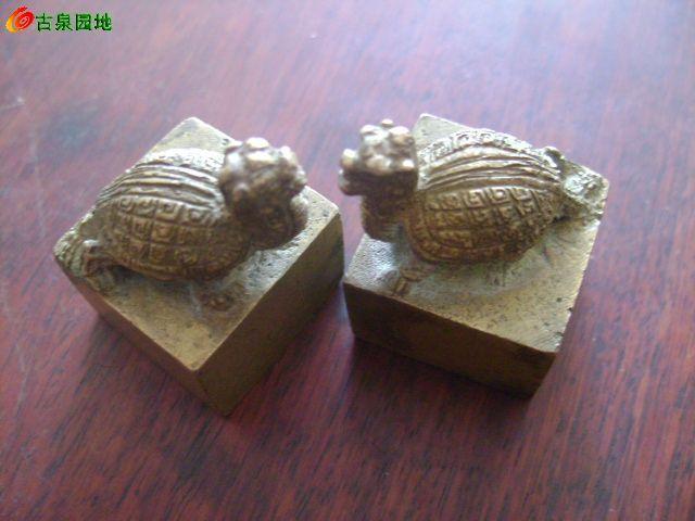 龟钮铜印章坯图片