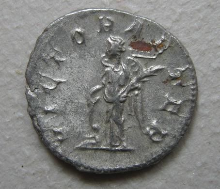 古罗马银币 戈尔迪安三世 胜利女神