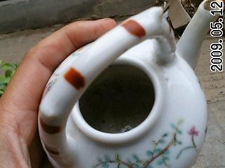 主题 清带硬粉彩人物提梁小茶壶