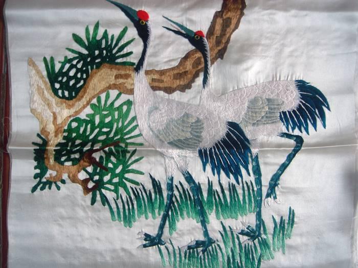 特价-刺绣-仙鹤四条屏-168元